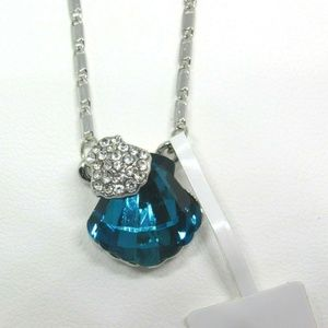 NEW18K White Gold Plated Austrian Crystal Necklace